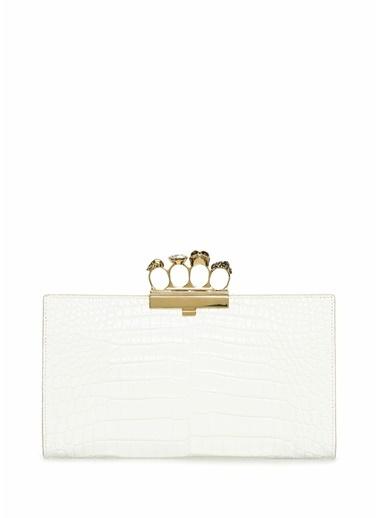 Alexander McQueen Clutch / El Çantası Beyaz